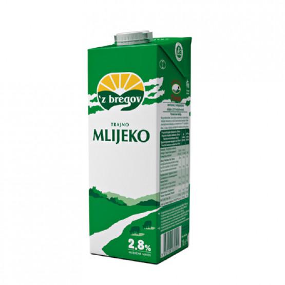 Млеко 2.8% 1л Збрегов