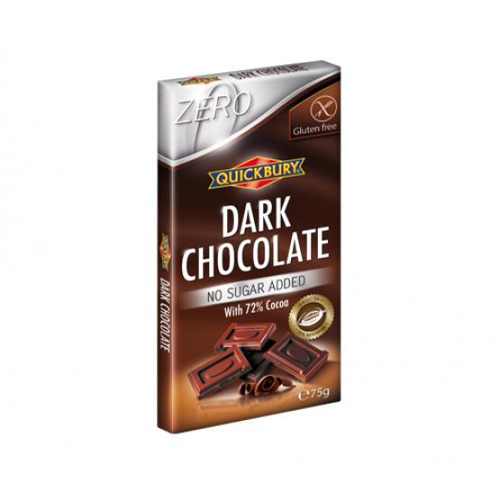 Темно чоколадо без шеќер и без глутен Квикбери 75г