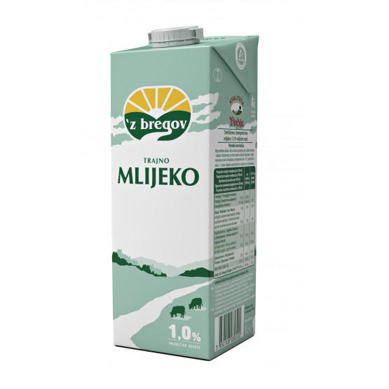 Млеко 1.0% 1л Збрегов