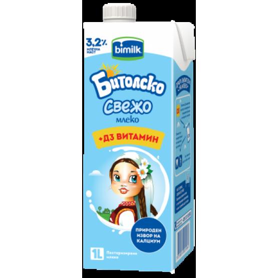 Битолско свежо млеко со Д3 витамин 1л
