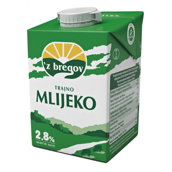 Млеко Збрегов 2.8 мас 500мл