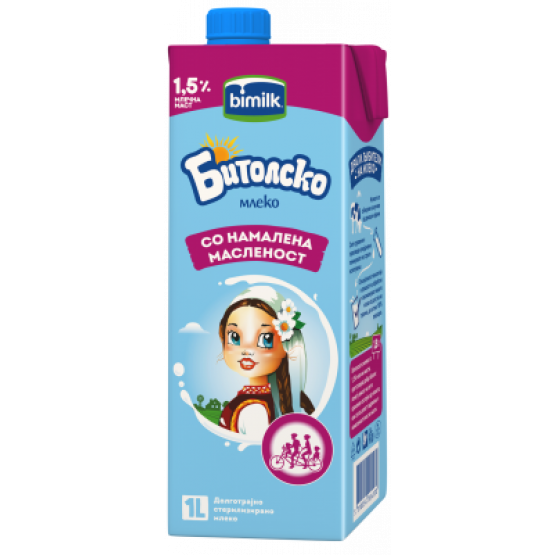 Битолско млеко 1.5% 1л