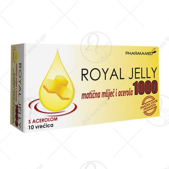 Матичен млеч Royal Jelly 1000 mg со ацерола 10 врекички