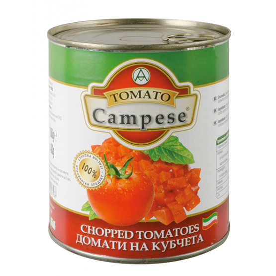 Кампезе домати сецкани 800г