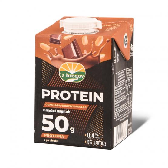 Збрегов Протеински напиток со чоколадо и кикирики 500мл