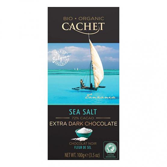 Органско темно чоколадо со морска сол Кашет 100г