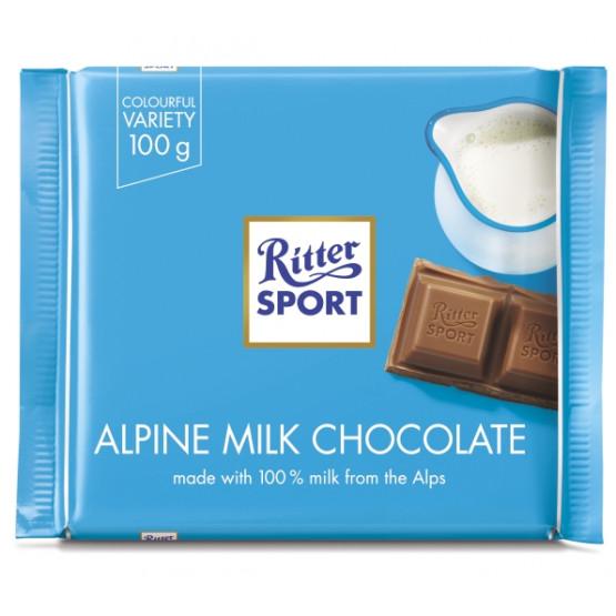 Ритер Спорт Чоколадо Алпско млеко 100г