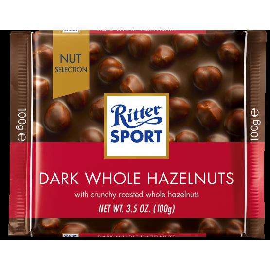 Ритер Спорт Темно Чоколадо цел лешник 100г