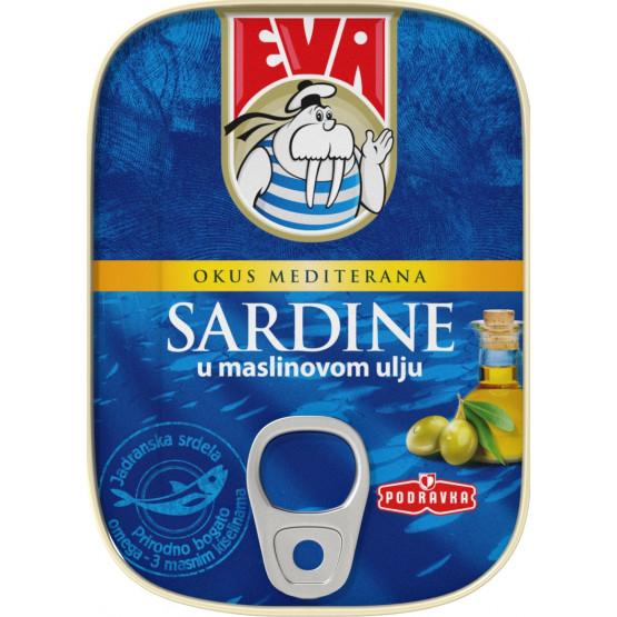 Ева сардина во маслиново масло 115г Подравка