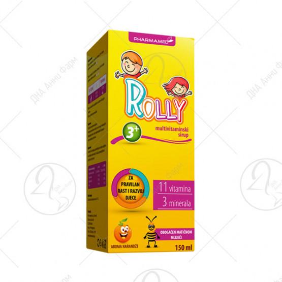 Мултивитамински сируп Rolly 11витамини 3минерали 150 ml