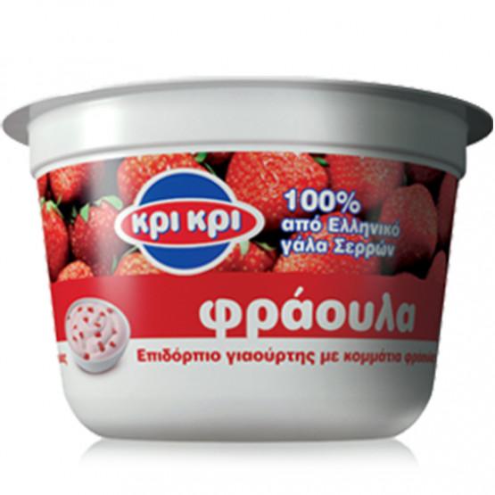 Кри кри  Овошен јогурт Јагода 150г