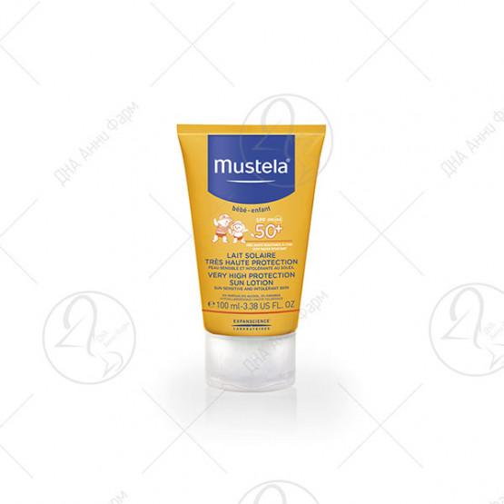 Mustela - Лосион за лице за сончање со висок заштитен фактор SPF 50+