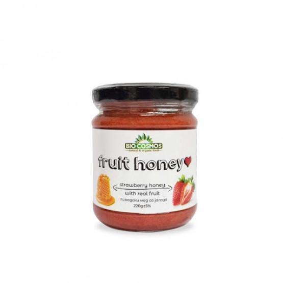 Овошен Мед со Јагода 220г Биокосмос
