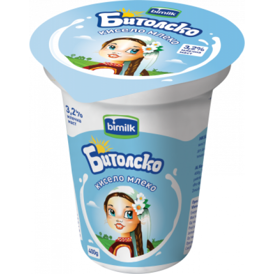 Битолско кисело кравјо млеко 3.2% 400г
