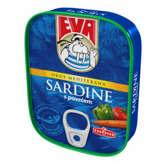 Сардина Ева со зеленчук 115г Подравка