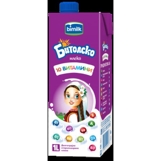Битолско млеко 2.8% со витамини 1л