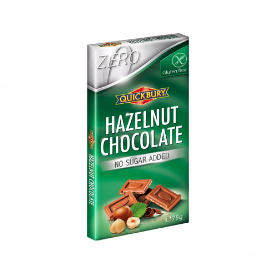 Чоколадо со лешник без шеќер и без глутен Квикбери 75г
