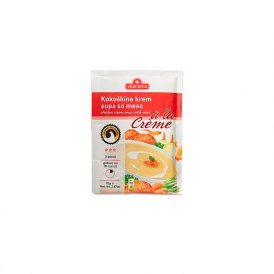 Витаминка крем супа пилешка со месо 70г