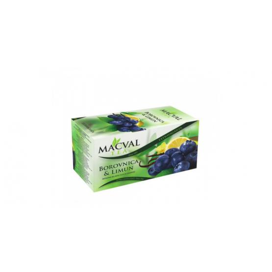 Чај Маквал боровница лимон 40г