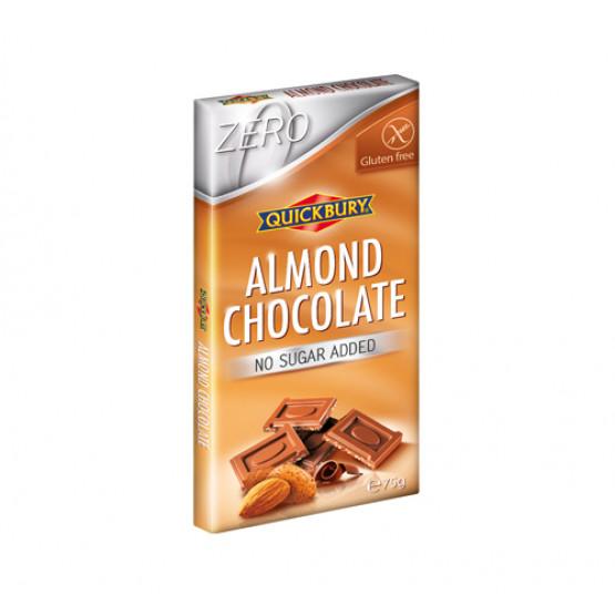 Чоколадо со бадем без шеќер и без глутен Квикбери 75г
