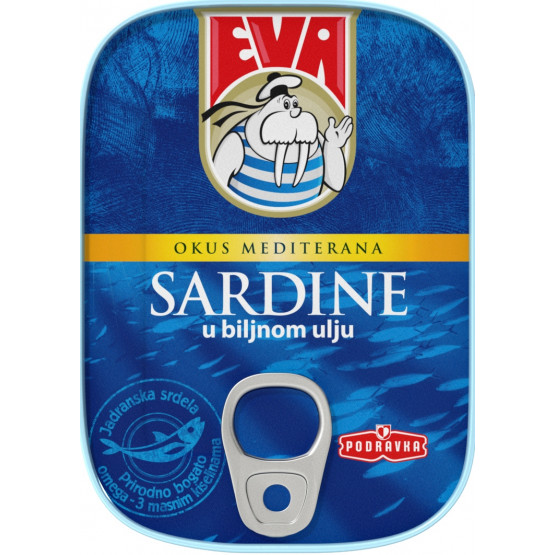 Сардина Ева во масло 115г  Подравка
