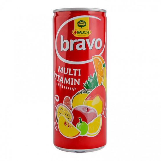 Сок Браво мултивитамин лименка  250мл