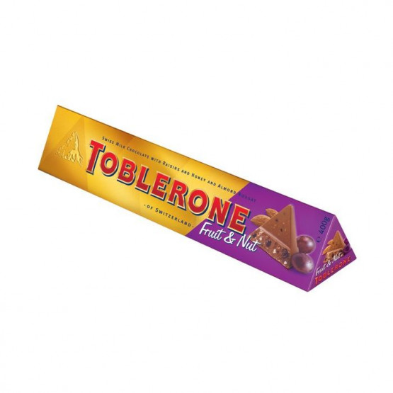 Тоблероне чоколадо со суво овошје и јатки 100г