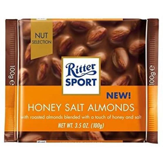 Чоколадо Ритер спорт мед и солен бадем 100г