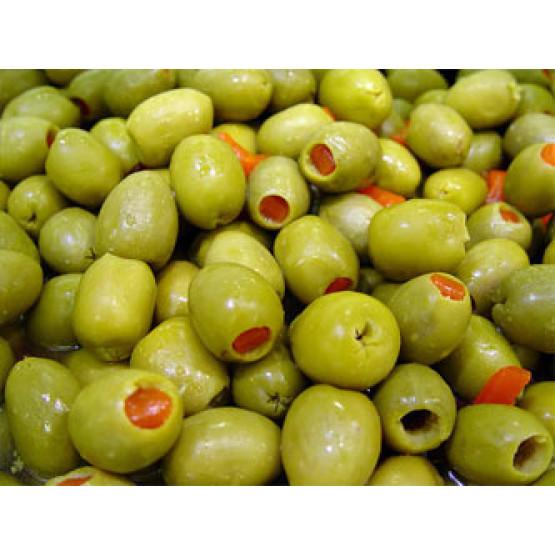 Оливија маслинки полнети со пиперче 720г
