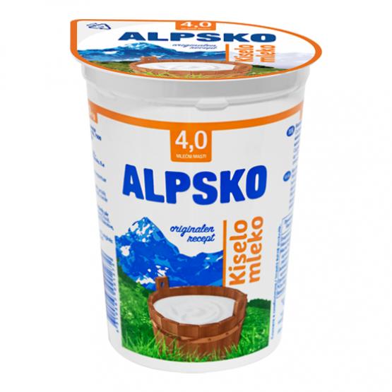 Алпско Кисело Млеко 4% 500г