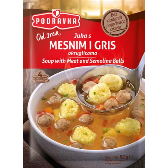 Подравка супа со месни и гриз кнедли 52г