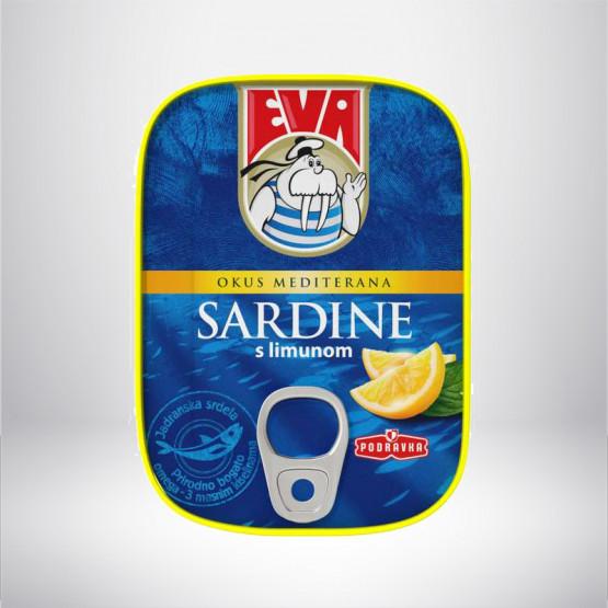 Сардина Ева со лимон 115г Подравка