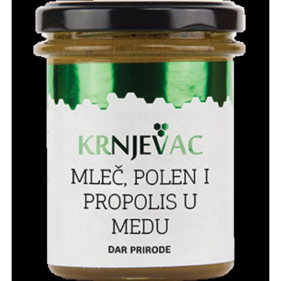 Матичен млеч и полен во мед Крњевац 250г