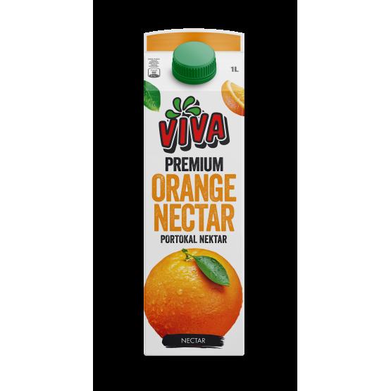 Вива сок портокал нектар 1л