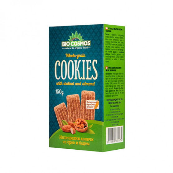 Кукис Интегрални колачи со Орев и Бадем 150г Биокосмос