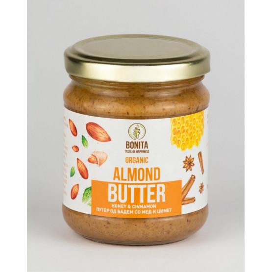 Органски путер од бадем со мед и цимет