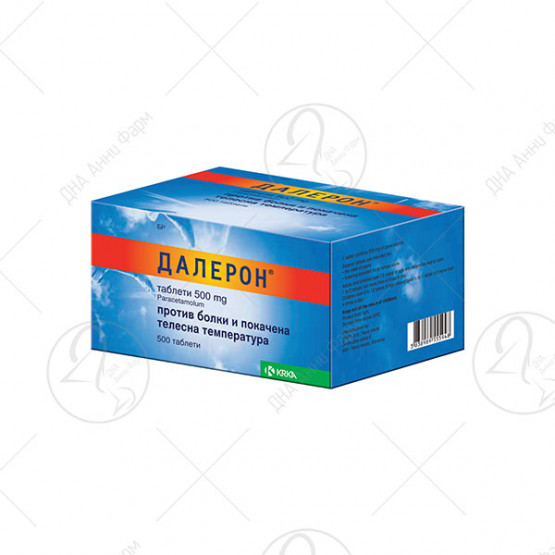 ДАЛЕРОН таблети таблета, 500 mg х 500 таблети