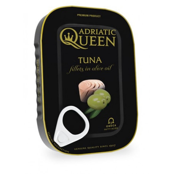Туна филети во маслиново масло Адриатик Квин 105г
