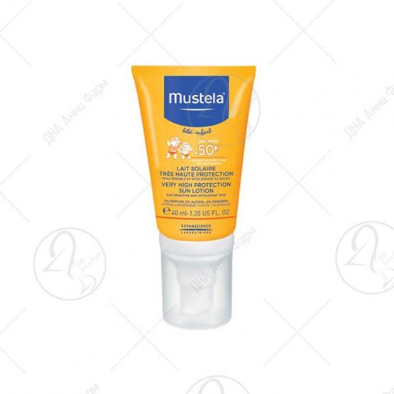 Mustela - Лосион за сончање со висок заштитен фактор SPF 50+ - 100, 200 и 300 ml