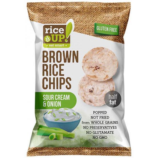 Рајс чипс крем и кромид  60 г