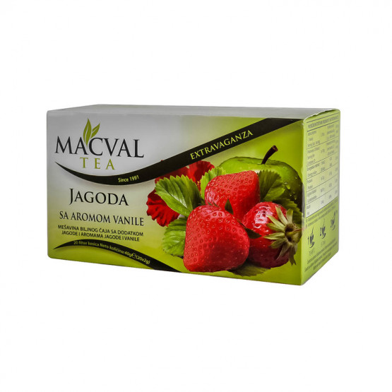 Чај Маквал јагода 40г